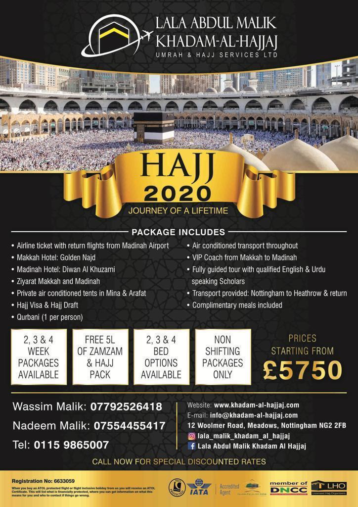 Hajj 2020 Itinerary